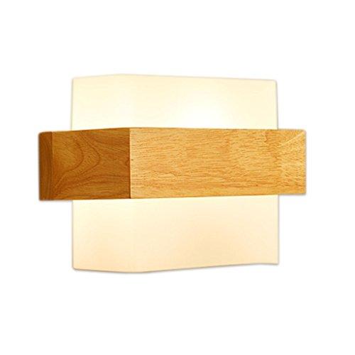 Applique murale QIQIDEDIAN Creative Allée Simple Chambre Chevet Lampe Bois Art Salon Mur Lampe D'étude Lampe