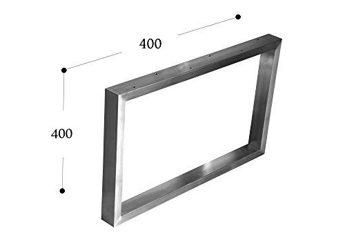 CHYRKA salontafel ijsframe tafelframe roestvrij staal 201 frame tafel tafel onderstel 400x500 mm - 1 Stück bruin