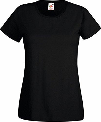 """Basic T-Shirt """"Valueweight"""" - für Damen Farbe schwarz Größe M"""