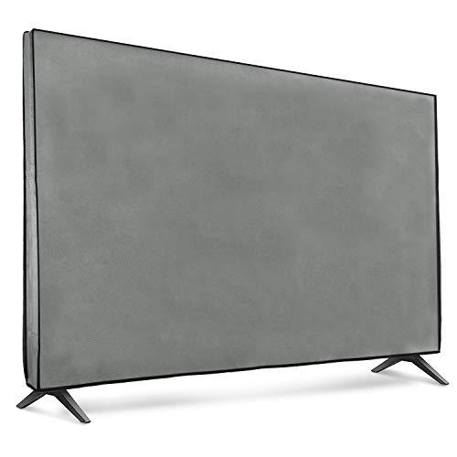 """kwmobile Funda para Monitor 65"""" TV - Cubierta Protectora Textil para Pantalla de TV en Gris Claro"""