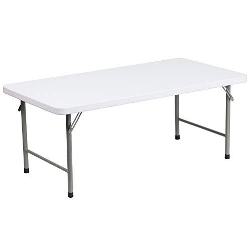 Flash Furniture 4-Foot Kid's Granite White Plastic Folding Table