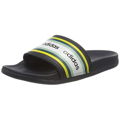 adidas Adilette Comfort, Scarpe da Ginnastica Donna, Legend Ink/Shock Yellow/Ftwr White, 40.5 EU