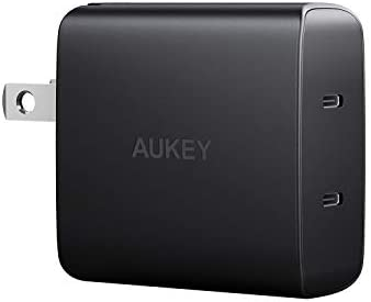 Aukey 36W 2-Port USB C Ultra Compact Fast Charger Adapter