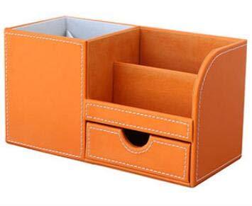 Caja de Almacenamiento de Escritorio Multifunción Escritorio Papelería Organizador Caja de almacenamiento Bolígrafo / Lápiz Nombre de negocios Tarjeta Titular de control remoto con cajón pequeño Organ