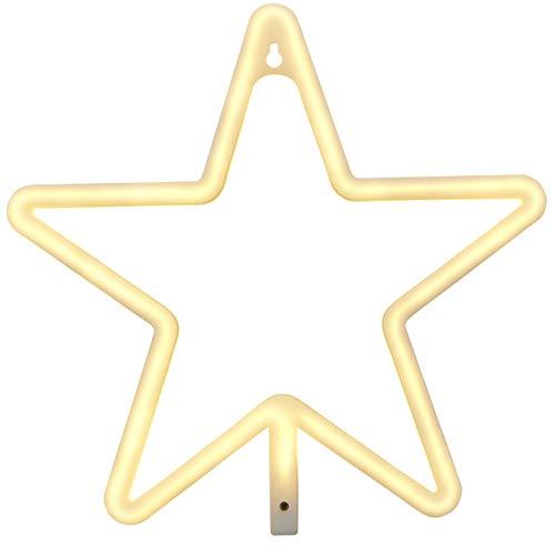 Northpoint LED Wandleuchte Stern Kinderzimmer Wandlicht Fensterleuchte Fensterlicht Nachtlicht Schlummerlicht Betrieb 3xAA-Batterien oder USB