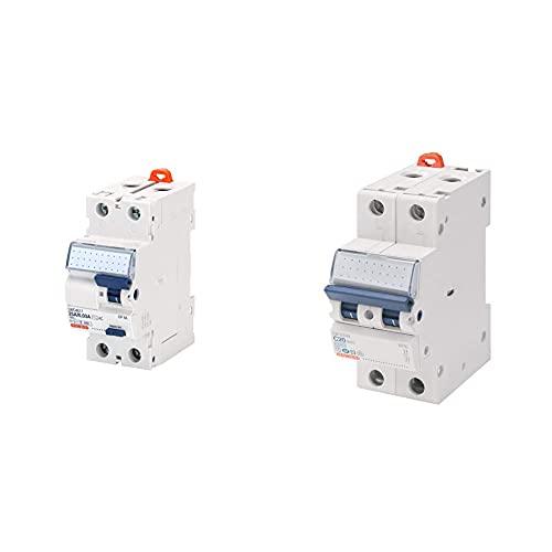 Gewiss - Interruttore Differenziale Puro - Idp Na - 2P 25A Tipo Ac Istantaneo Idn=0,03A 230V - 2 Moduli & - Interruttore Magnetotermico - Mt45-1P+N Curva C 25A - 2 Moduli