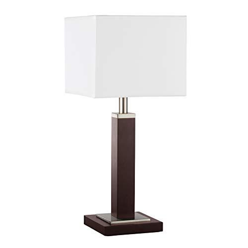 Tischleuchte in Silber Holz Bauhaus 1xE14 bis zu 40 Watt 230V aus Metall & Holz Nachttischleuchte Schlafzimmer Wohnzimmer Esszimmer Lampe Leuchten Beleuchtung