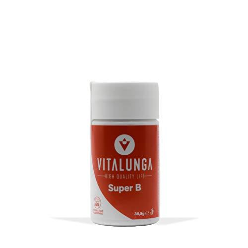 Integratore di Vitamine del Gruppo B in forma attiva per una Maggiore Energia, Contiene Coenzima Q10 e Myo Inositolo - Confezione da 60 Capsule (1 Mese di Utilizzo)