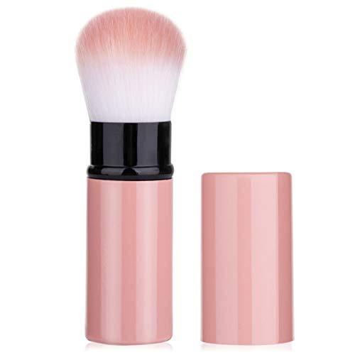 Pinceau de fond de teint, pinceaux de maquillage rétractables, pinceau de fond de teint professionnel Kabuki Brush, pour poudre minérale, contouring, crème ou cosmétiques liquides (B)