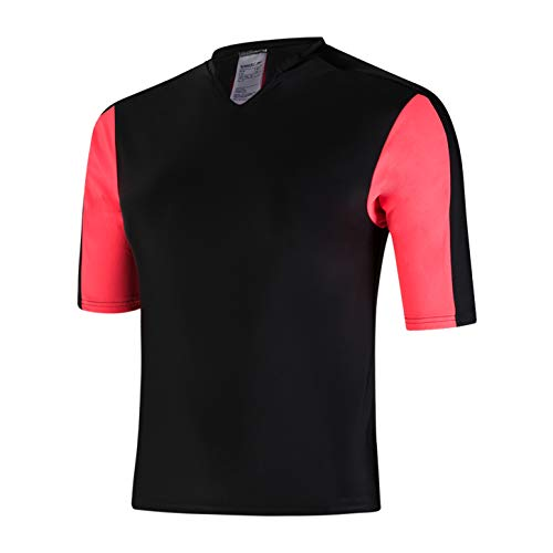 Speedo Hydractive Rash Camiseta, Mujer, Black/Psycho Red/Oxid Gre, Small