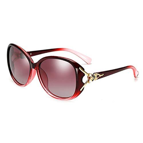 Gafas de Sol Sunglasses Uv400 Mujeres Sexy Diseñador De La Marca Marco Grande Lente Degradada Gafas De Sol Negras para Mujer Gafas De Sol De Gran Tamaño con Escudo De AltAnti-UV