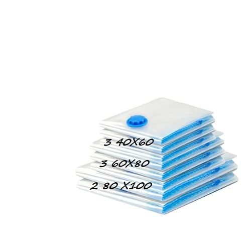 Lacmisc Bolsas Vacio Ropa Bolsas de Almacenaje al Vacío para Ropa 13 piezas Bolsas de compresión 3 tamaños Bolsas de vacío de viaje reutilizables para ropa Mantas Ropa de camping (Model 5)