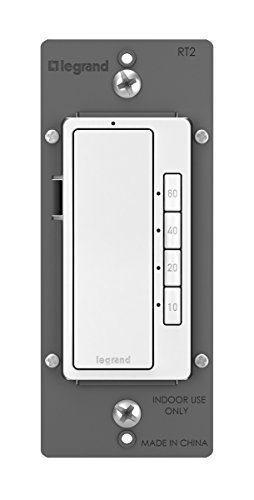 Legrand radiant Digital Light Switch Countdown Timer, Decorator Rocker Wall Switch, 4-Button, RT2WCCV4