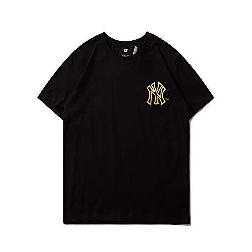 CPAI Unisex Teens MLB NY Yankees T-Shirt Kurzarm Freizeit Sport Baseball Uniformen Tee für Herren und Damen,Schwarz,XXL