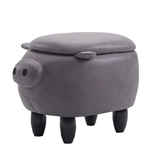 Preisvergleich Produktbild CHENDZ Mode kreative kalb Kinder Tier Schuhe Bank Hause hocker hocker massivholz Sofa hocker Piggy hocker Tragbarer Stuhl im freien