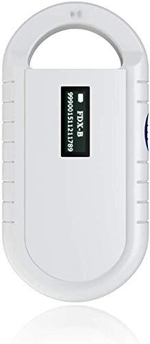 Tonysa RFID Reader, Handheld Tier Chip Reader Mini Tragbarer Haustier Mikrochip Scanner mit 5 Stunden Arbeitszeit
