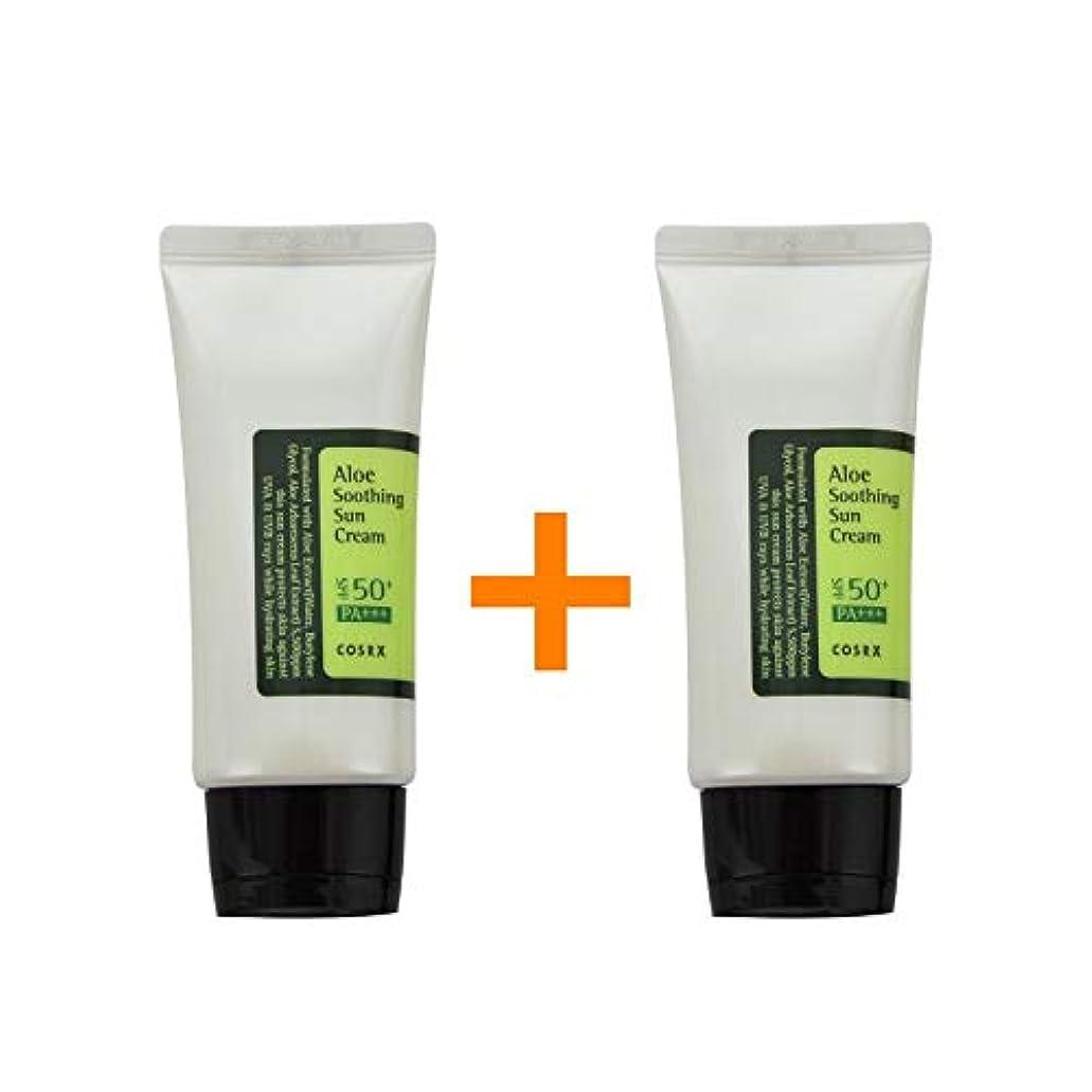 コンベンションリーチ完全に乾く[ 1 + 1 ] COSRX コースアールエックス アロエ スージング サンクリーム Aloe Soothing sun cream (50ml) SPF50+/PA+++ 韓国日焼け止め