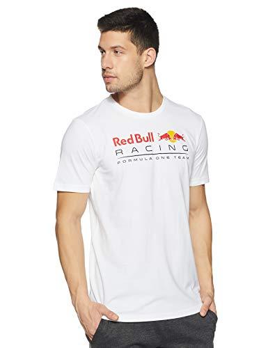 PUMA RBR Logo tee Camiseta, Hombre, White, S