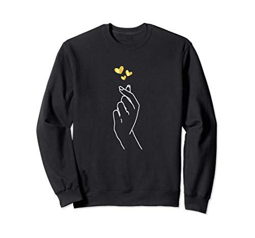 Korean Heart Shirt Kpop Love Gifts For Daughter Girls Women Sudadera