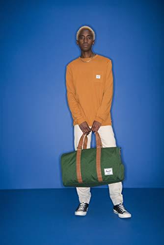 Herschel Novel Duffel Bag, Black/Tan Synthetic Leather, Classic 42.5L