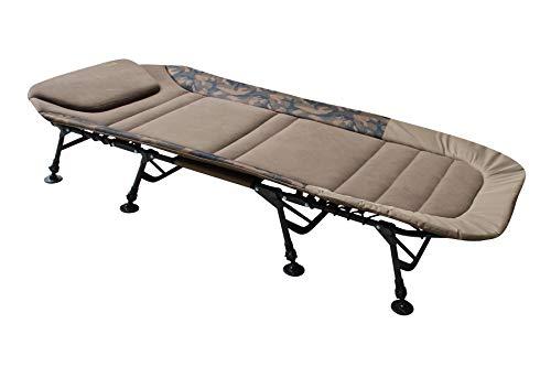 MK-Angelsport Angelliege Fort Knox FlatSize X-Pro Camo Bedchair Karpfenliege Gartenliege Liege 8-Bein
