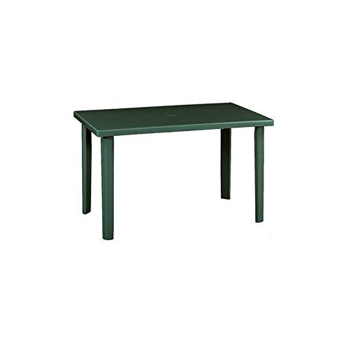 Tavolo da giardino rettangolare 120 x 70 centimetri in resina color verde tavolo per esterni