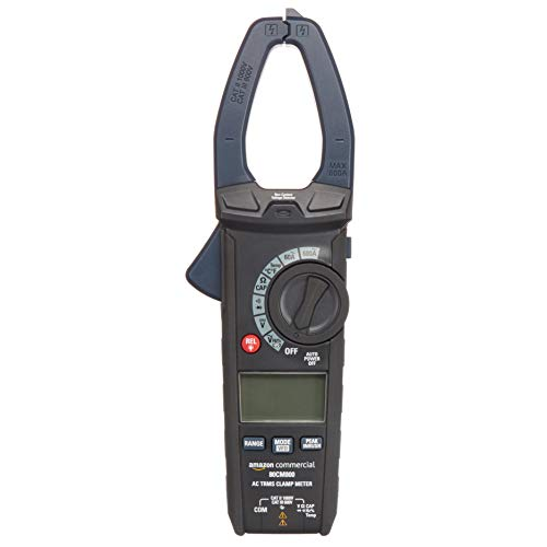 AmazonCommercial 600A AC Clamp Meter, True RMS, NCV, Flashlight, 6000 Count