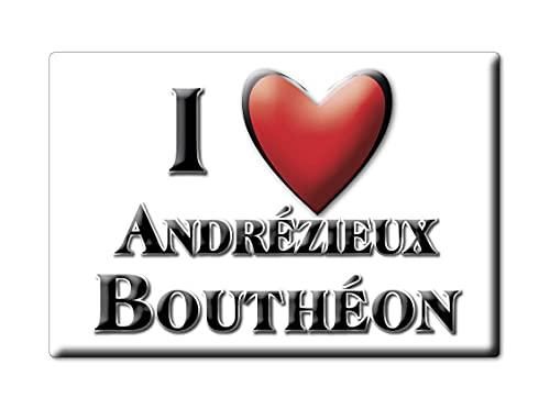 Enjoymagnets ANDRÉZIEUX BOUTHÉON (42) Souvenir Aimant DE FRIGO France Nord Pas DE Calais IDÉE DE Cadeau Magnets Je Aime