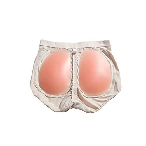 Faux Cul Fake Butt Butt Butt Butt de Levage Culotte Femme Silicone Fesses Tapis De Pad Culottes Sculptantes (Color : Beige, Waist : 53-60CM)