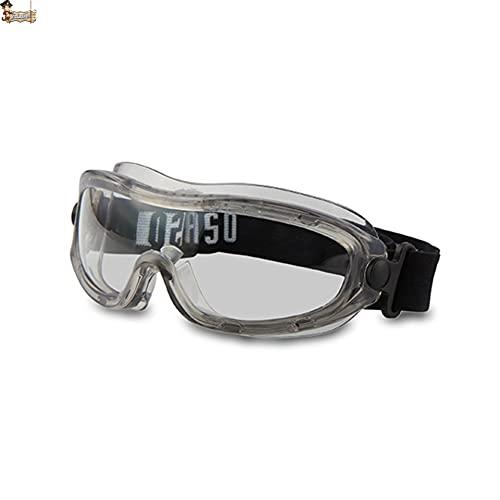 BricoLoco Gafas protección y seguridad en el trabajo. Antivaho. Antiempañante. Protectoras antilíquidos y antipolvo. Montura integral. Visión panorámica. ✅