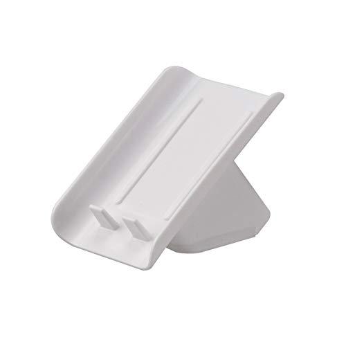 Xiaokeai Plato de jabonera Vertical para el hogar, Soporte de jabón de plástico con Hebilla Anti-caída, Bandeja de jabón Que no es fácil de Caer y fácil de Limpiar (Color : White)