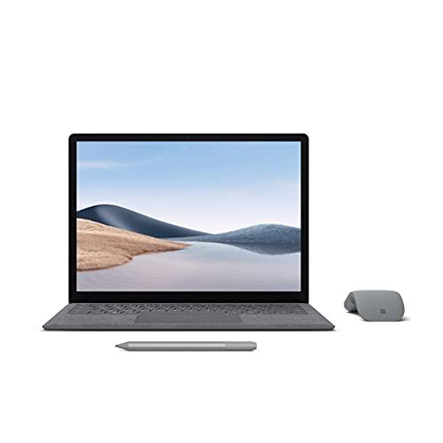 【Microsoft ストア限定】3点セット: Surface Laptop 4 13.5インチ(Core i7 / 16GB / 512GB / プラチナ) + Surface Arc Mouse グレー + Surface ペン プラチナ