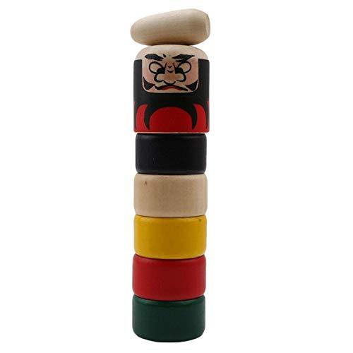 QKFON 1 juego de juguete mágico de madera inmortal, juguete de montaje automático, marioneta de madera para niños y niñas