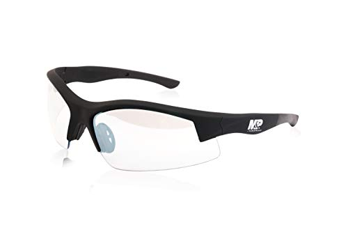 Smith & Wesson M&P Super Cobra Frame Shooting Glasses with No-Slip Rubber, Impact Resistance and Anti-Fog Lenses for Shooting, Working and Everyday Use