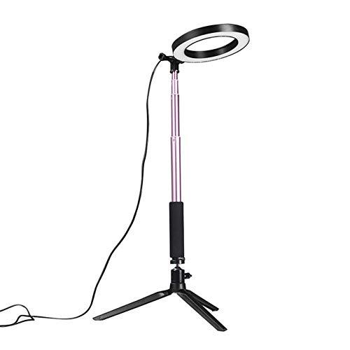 Selfie anillo luz regulable video anillo luz 14.5 cm LED maquillaje lámpara con selfie stick trípode Bluetooth obturador para fotografía video