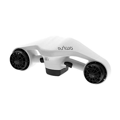 Asiwo Unterwasserscooter Tauchscooter mit Action Kamera Halterung, Seascooter mit Doppelmotor für Tauchen Schwimmen Schnorcheln Abenteuer und Fischen jagen (Weiß)
