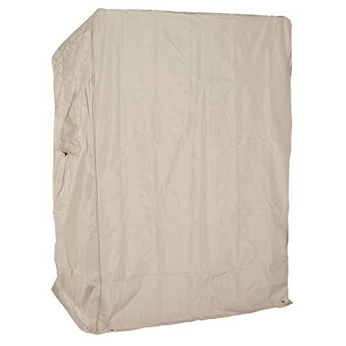 LILIMO Strandkorb Schutzhülle Ripstop | M | 120 x 85 x 155 cm | Robuste Abdeckhaube für 2-Sitzer Strandkorb in beige