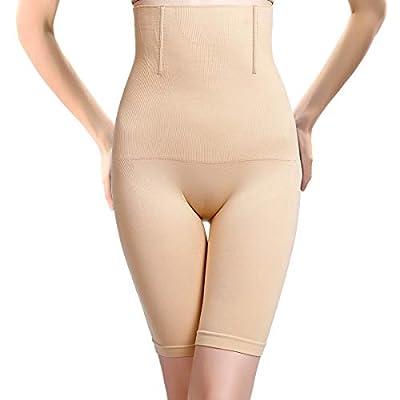 PANHAYO Womens Shapewear Tummy Control Shorts Thigh Slimmer High-Waist Panty Firm Control Body Shaper (Nude, 4XL)