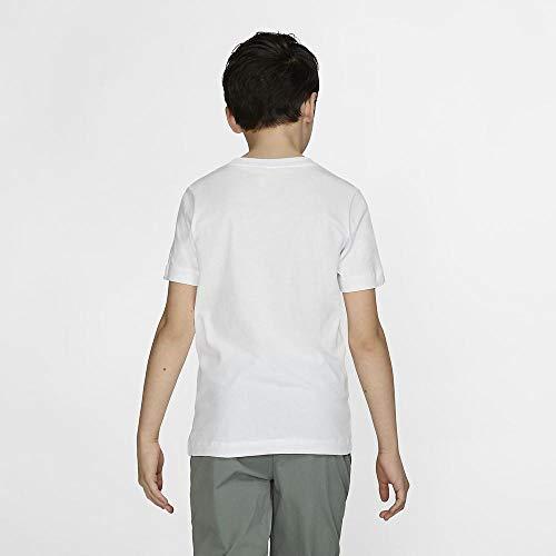 Nike Kid's EMB Futura T-Shirt, White/Black, M
