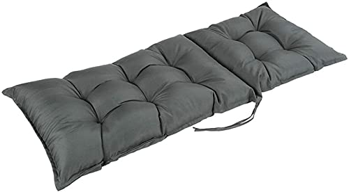 WanJing Cojín para tumbona de jardín, impermeable, respaldo alto, para silla reclinable, para viajes, vacaciones, exteriores, 120 x 45 cm