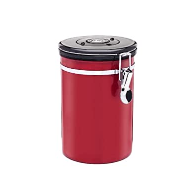 Friis Stainless Steel Coffee Vault, 16-Ounce, Red