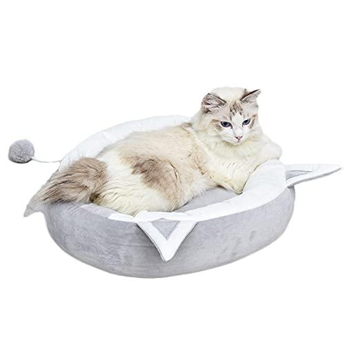 yzzseason Pet Supplies - Cama para mascotas con forma de oreja de gato, nido de gato suave, nido de gato en forma de oreja, nido de gato resistente a las mordidas, cojín cómodo (S 38 cm, gris)