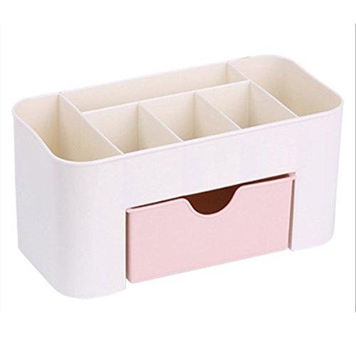 CDKJ Organizador de maquillaje de escritorio de plástico caja de almacenamiento organizador de cosméticos estuche de almacenamiento