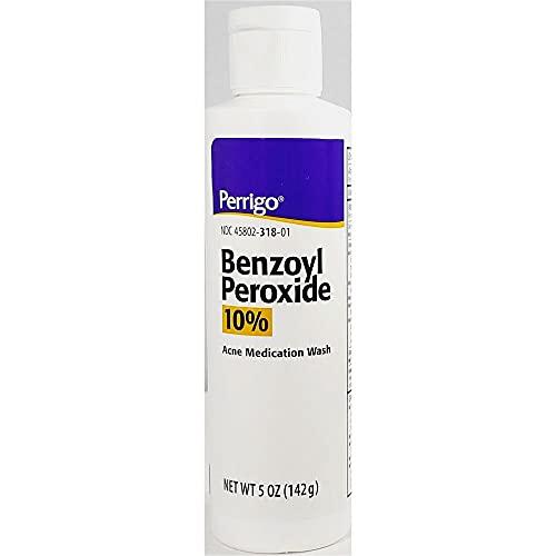 Perrigo 10% Benzoyl Peroxide Acne Medication Face Wash