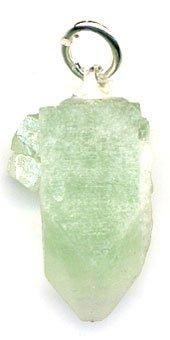Colgante de apofilita verde en bruto