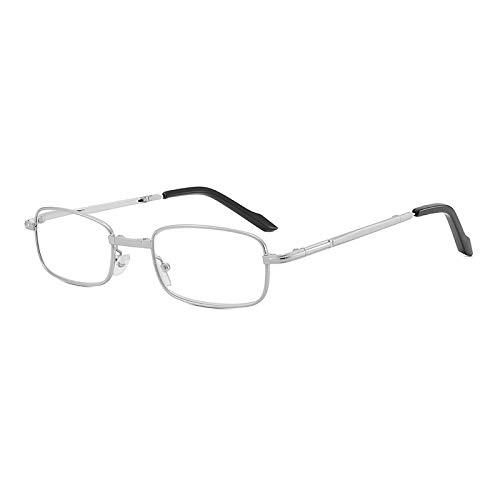 Jigan Modieuze draagbare 1 paar compacte opvouwbare leesbril met mini-flip-top-draagtas voor mannen en vrouwen