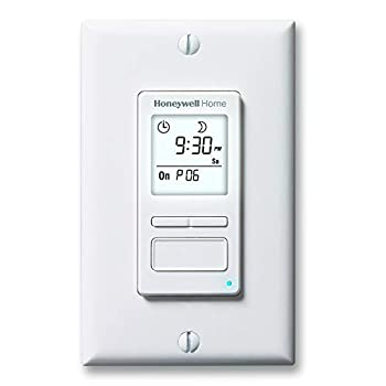 Honeywell Home RPLS740B1008 Econoswitch 7-Day Programmable Light Switch Timer White
