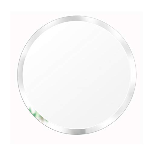 Simple Round Beveled Circle Wall Mirror | Frameless Mirror with A Silver Backed Mirrored Glass Panel | Best for Vanity, Bedroom, Or Bathroom
