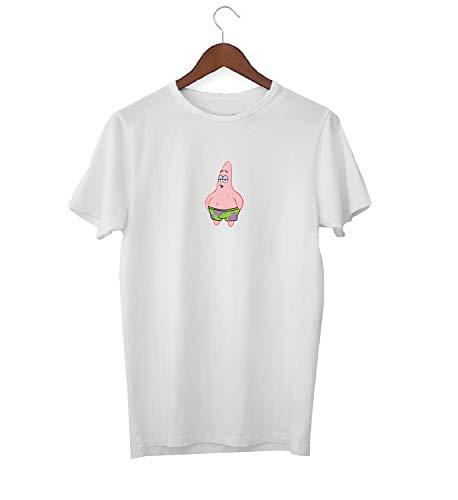 Patrick Star Sponge Bob Square Pants Character_KK017536 Shirt T-Shirt für Männer Herren Tshirt for Men Gift for Him Present Birthday Christmas - Men's - Small - White