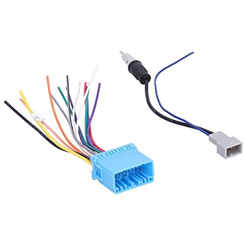 Kit de conector estéreo del mercado de accesorios del arnés de cables del altavoz del coche, arnés de cableado de radio estéreo + reemplazo del adaptador de antena para Accord / Civic / CRV / Element
